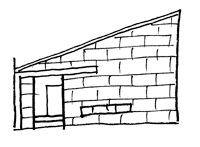ガルバウロコの家のスケッチ