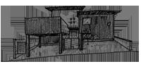 みかん畑を借景する家のスケッチ
