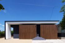 木板塀の家