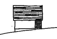 眺望が拡がる家のスケッチ